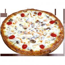 Пицца с креветками